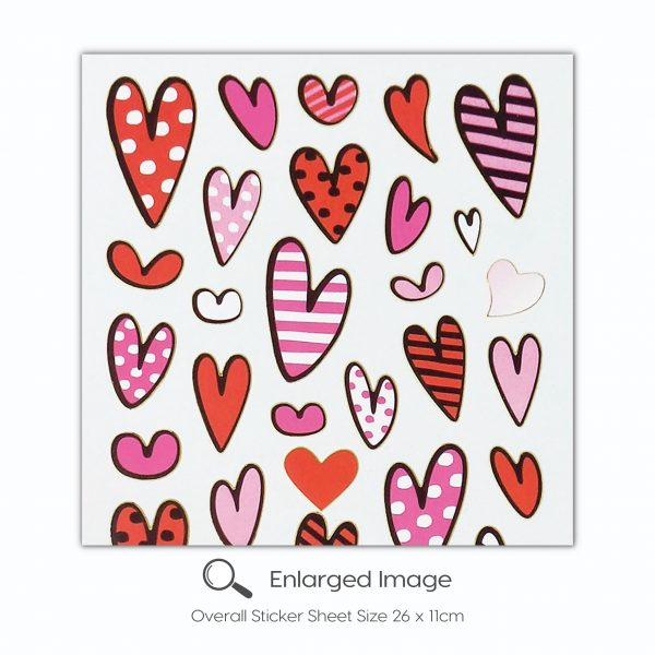 102 Hearts Pink Red Tile_2