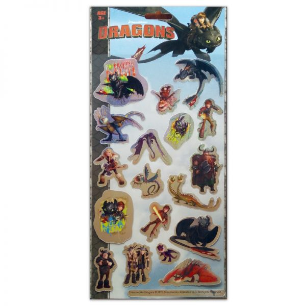 2001 Large Sticker Dragons Tile