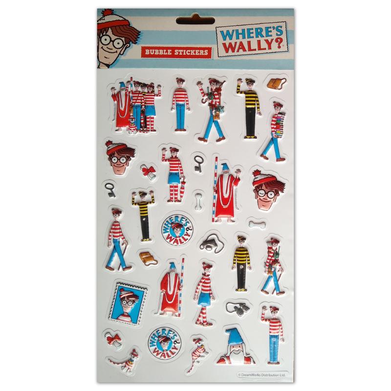 3001 Bubble Sticker Where's Wally Tile
