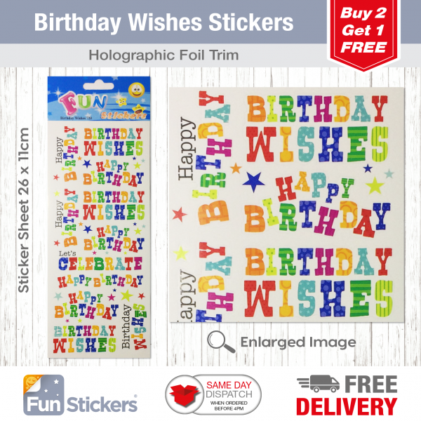 CODE 720 – Birthday Wishes Tile