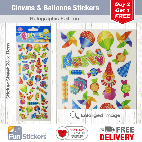 CODE 819 – Clowns & Balloons Tile
