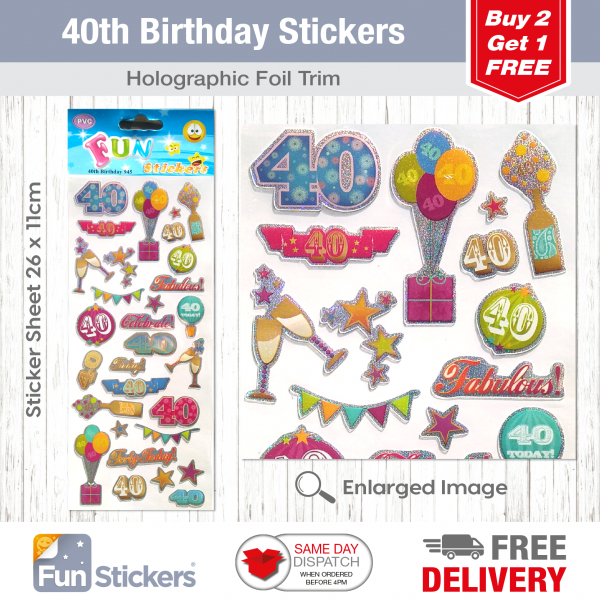 CODE 945 – 40th Birthday Tile