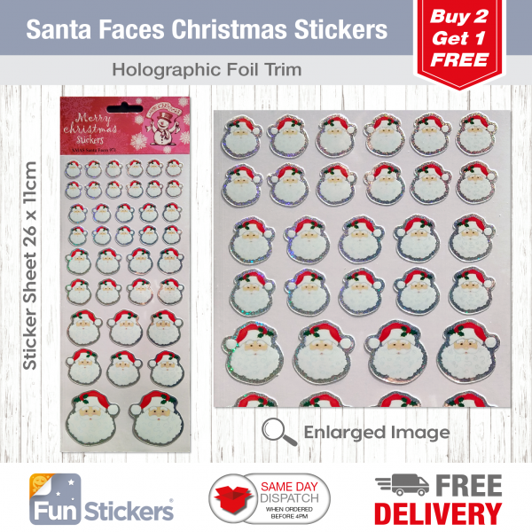 CODE 971 – XMAS Santa Faces Tile