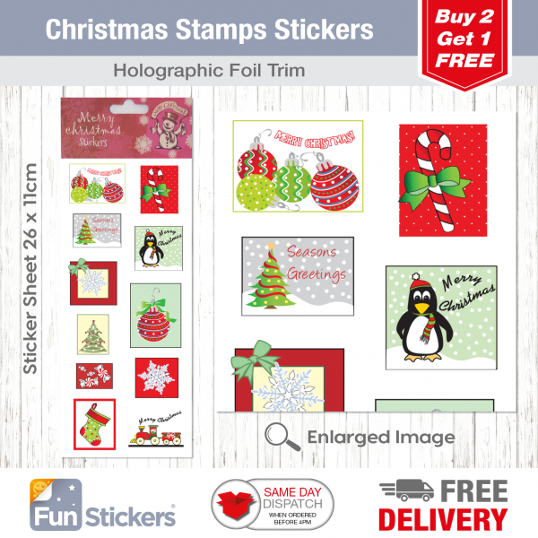 CODE 973 – XMAS Stamps Tile