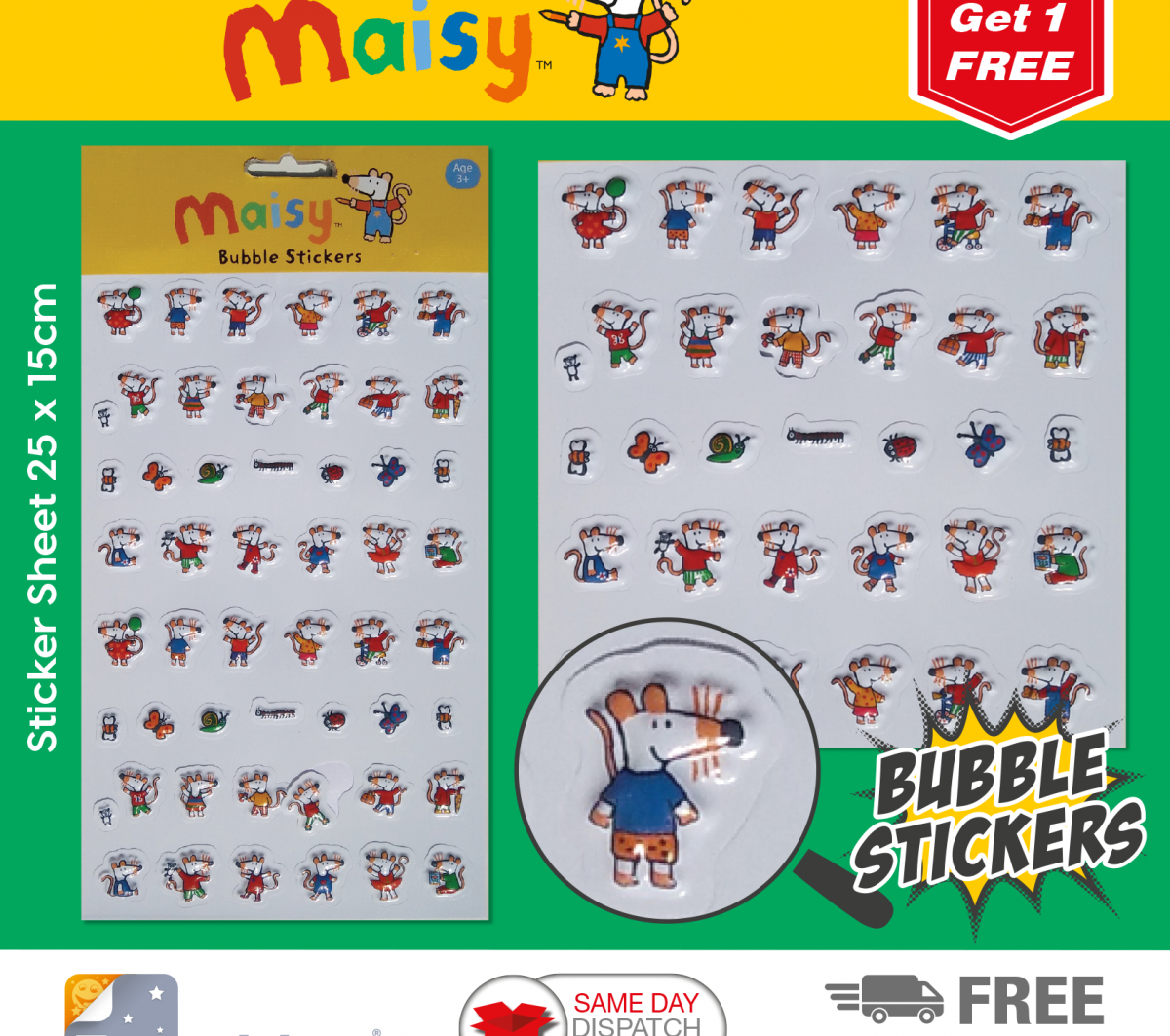 Maisy Stickers Bubble 3001
