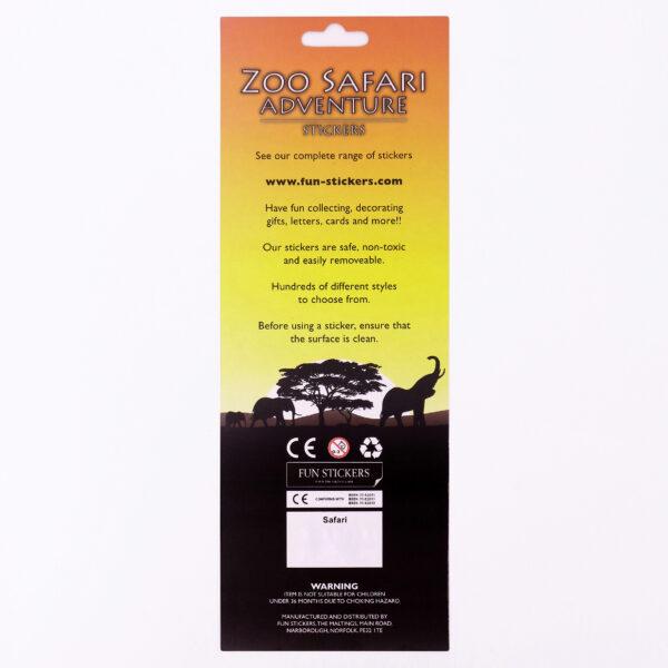 Zoo Safari Header Card Back