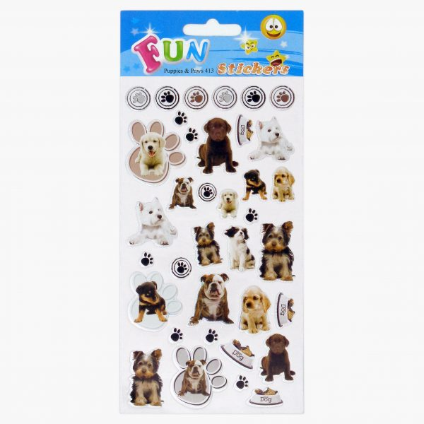 SML 413 Puppies & Paws Set of 10 Tile_1