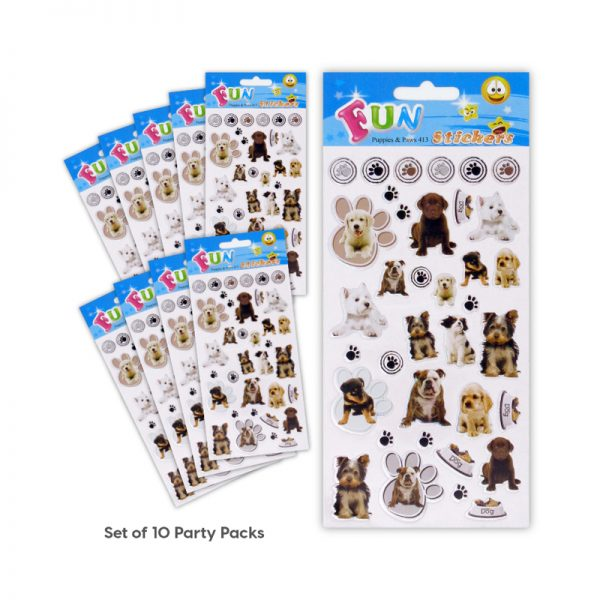 SML 413 Puppies & Paws Set of 10 Tile_3