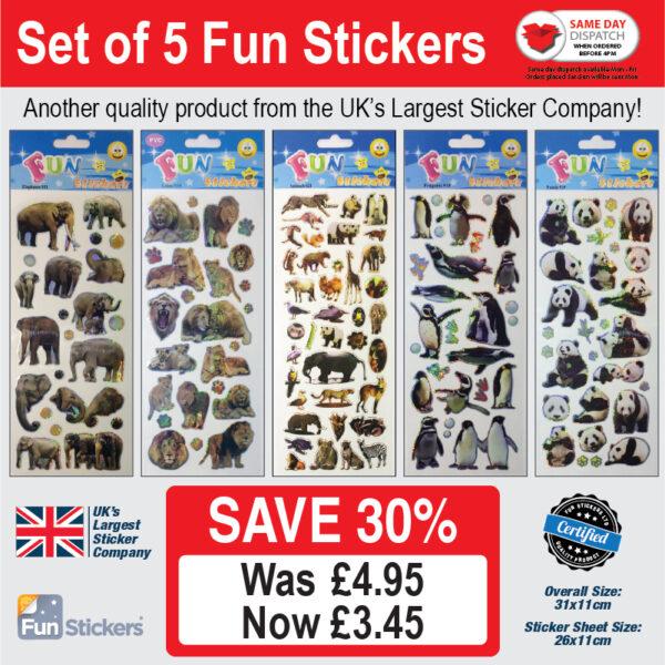 new generic 5 pack Zoo Animals – 931, 935, 621, 940, 939