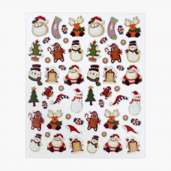 Twin Pack Christmas Santa's Faces Sticker Sheet 2