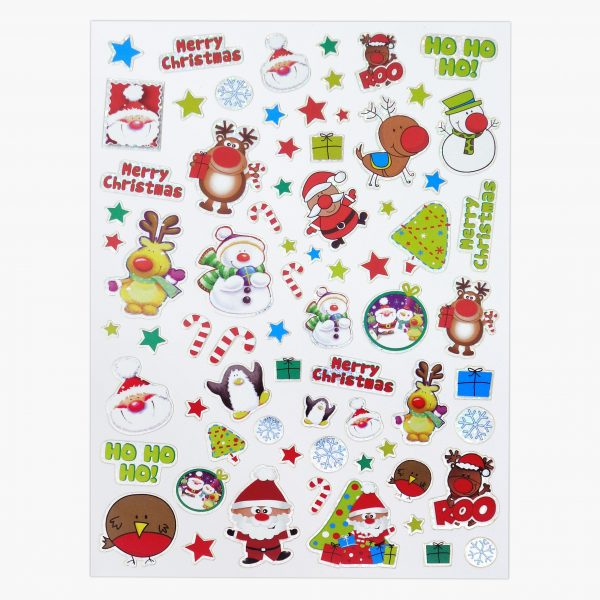 Twin Pack Christmas Stamp Sticker Sheet 1