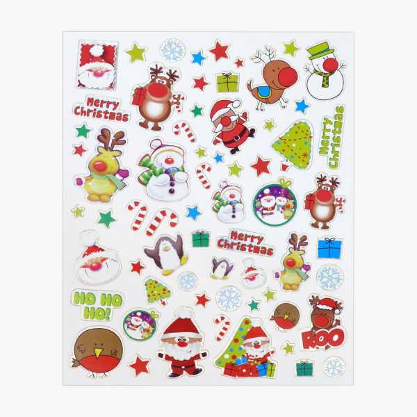 Twin Pack Christmas Stamp Sticker Sheet 2