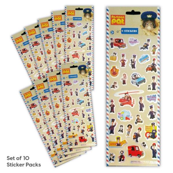Party Bag Set of 10 Postman Pat Tile