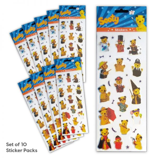 Party Bag Set of 10 Sooty Tile