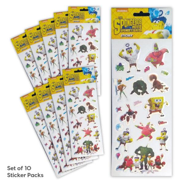 Party Bag Set of 10 Spongebob Tile