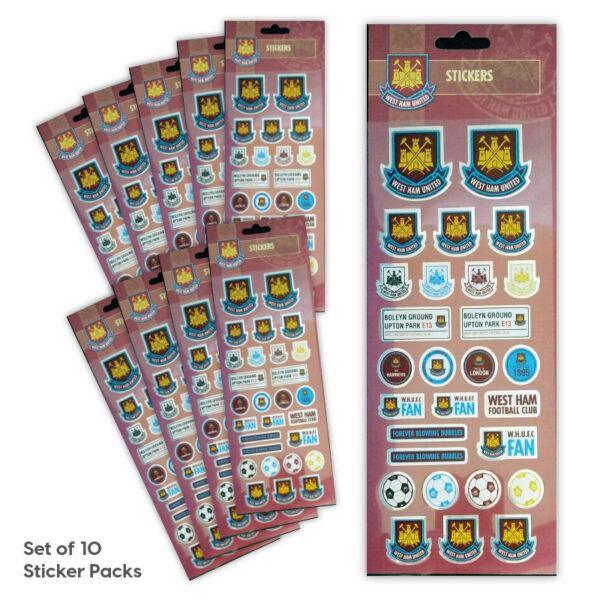Party Bag Set of 10 West Ham United Tile