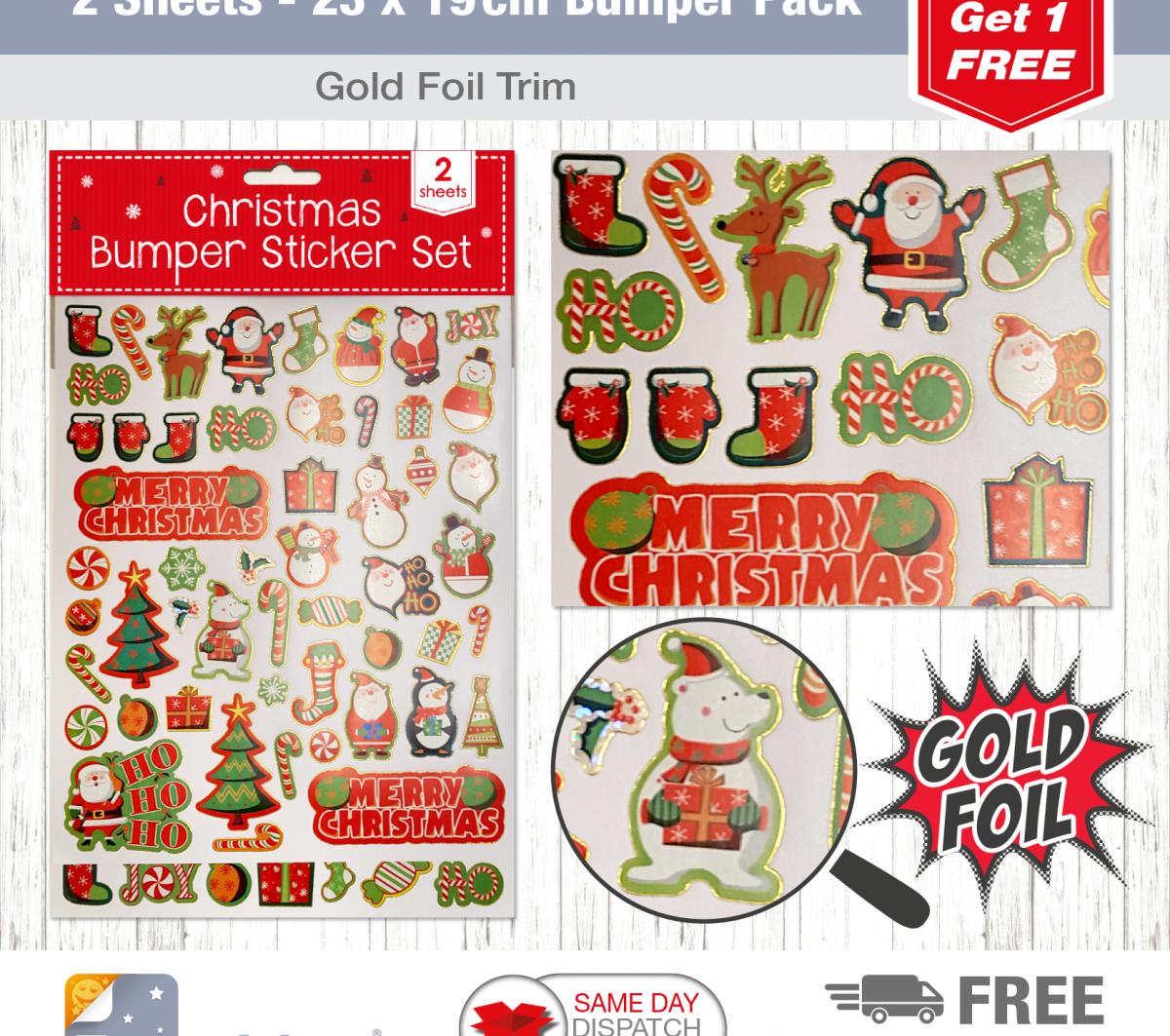 2 Sheet Bumper Pack Christmas Candy-1