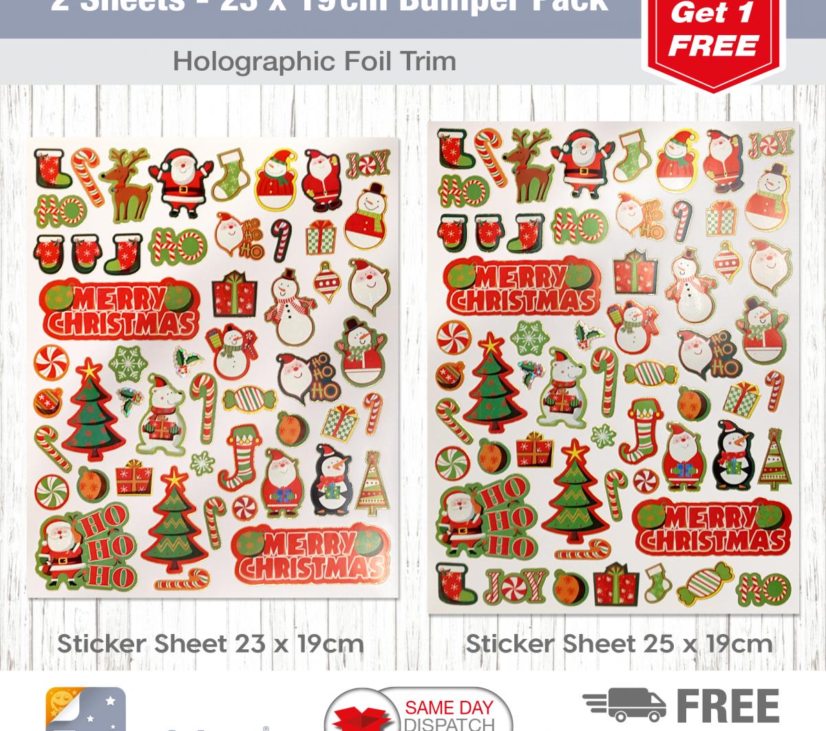 2 Sheet Bumper Pack Christmas Candy-2