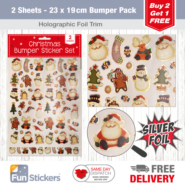 2 Sheet Bumper Pack Christmas Craft-1