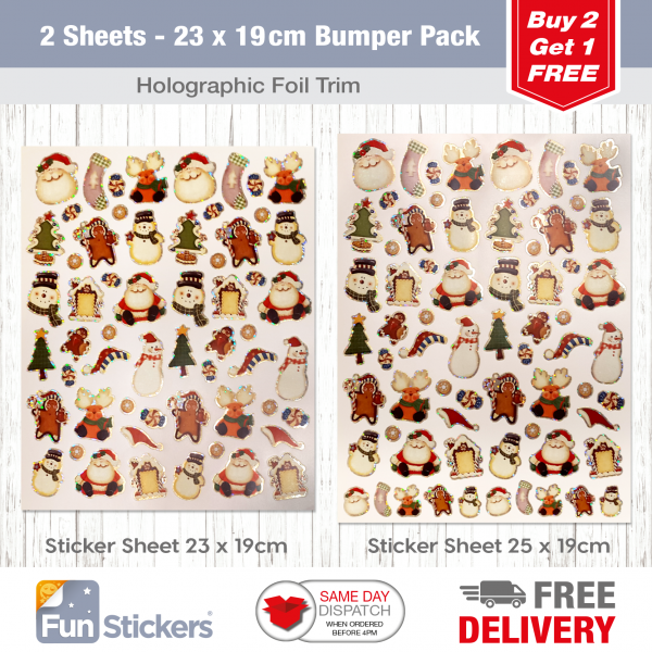 2 Sheet Bumper Pack Christmas Craft-2