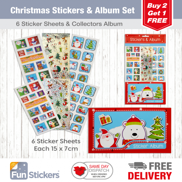 Christmas Tile S&A Blue Santa Stamps-1