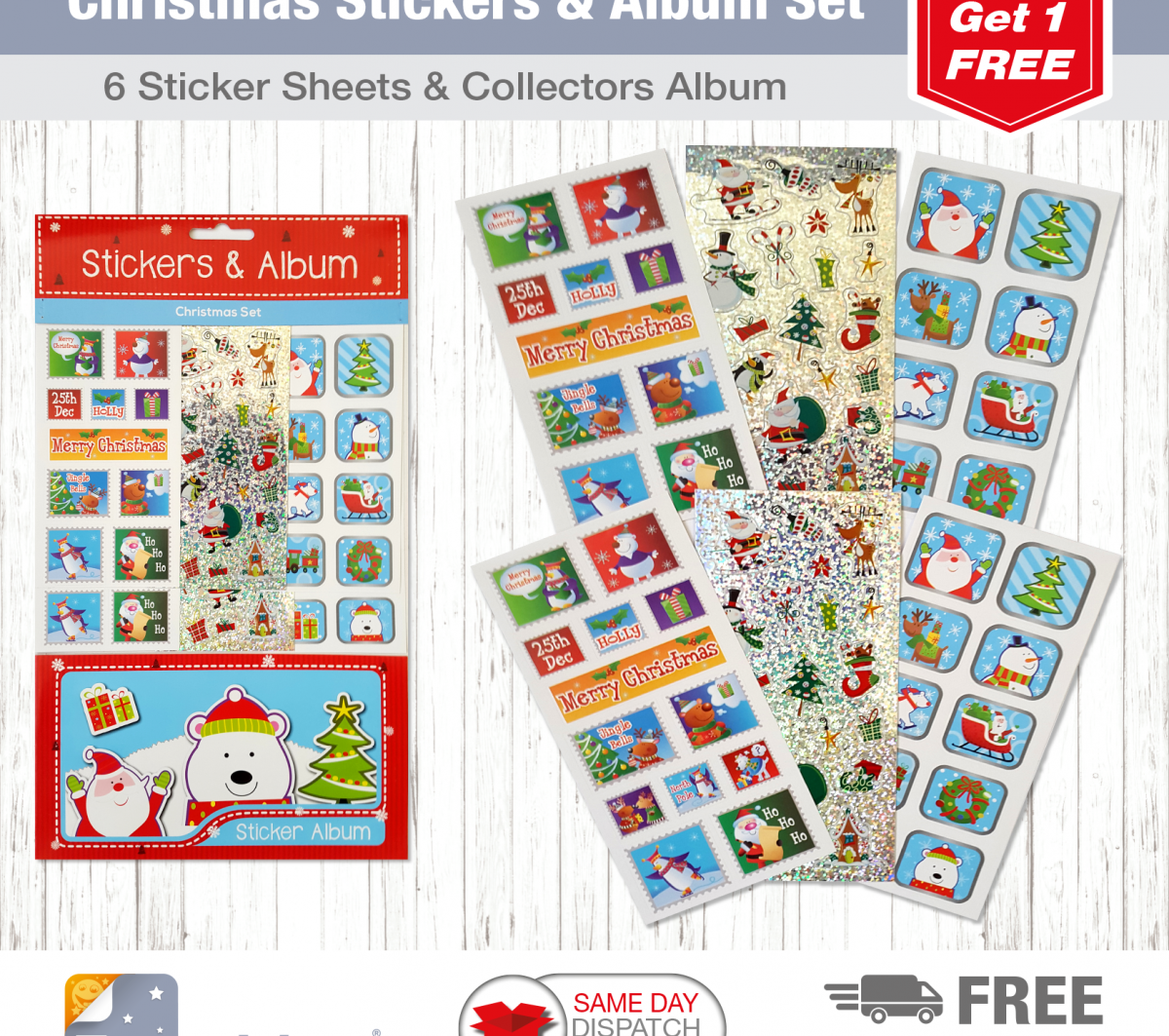 Christmas Tile S&A Blue Santa Stamps-2