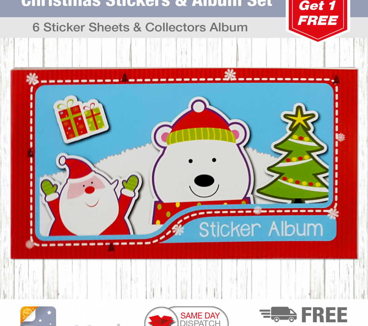 Christmas Tile S&A Blue Santa Stamps-3