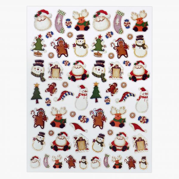 Twin Pack Christmas Santa's Faces Sticker Sheet 1