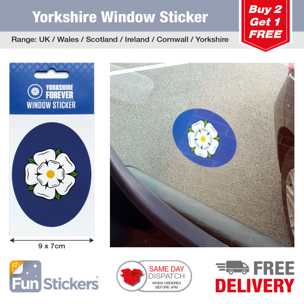 Car Window Sticker Tiles Yorkshire