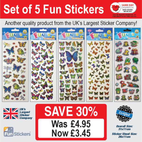 new generic 5 pack Butterflies – 712, 713, 733, 416, 803