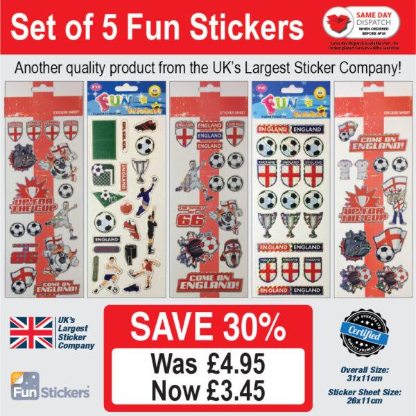 new generic 5 pack England Football – 976, 305, 975, 708, 974