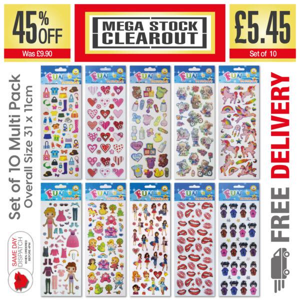 Fun Stickers Girls_Set of 10 – 306, 914, 928, 929, 979, 983, 1004, 1805, 1909, 1913 JPEG