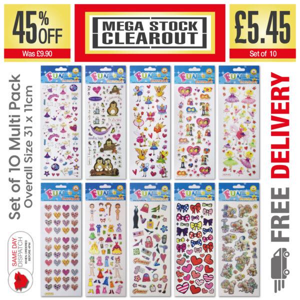 Fun Stickers Girls_Set of 10 – 312, 513, 514, 515, 604, 606, 623, 706, 727, 930 JPEG